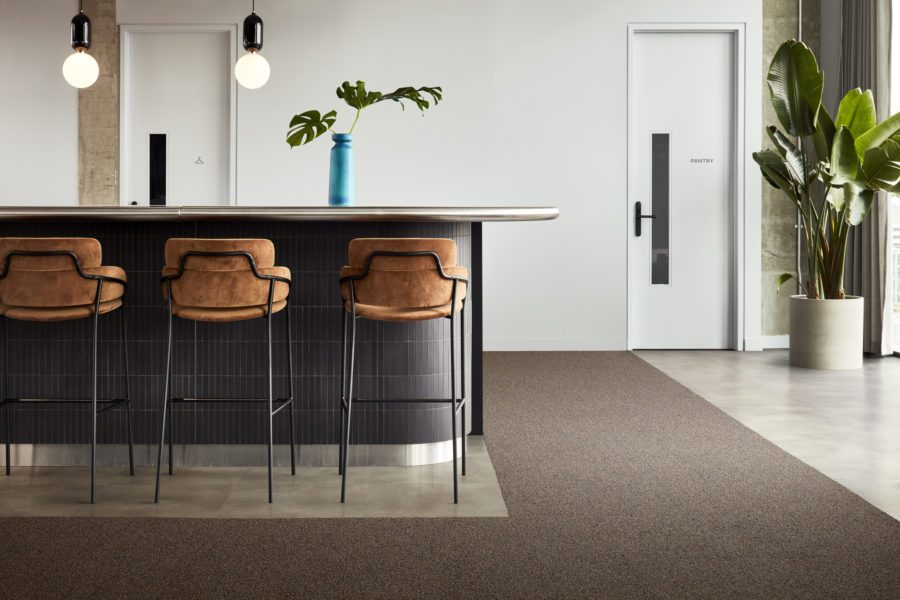WARM MINERAL COLOUR FLOORING TO WELCOME OFFICE WORKERS BACK